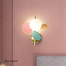 Ins и изображениями красочного цветка филиал настенный светильник