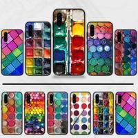Juego de acuarelas para móvil, caja de pintura para Huawei honor Mate P 9 10 20 30 40 Pro 10i 7 8 a x Lite nova 5t