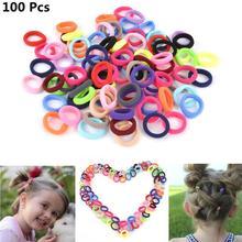 Ponytail-Holder Hair-Accessories Elastic No-Crease Headwear Color-Mixing-Hair-Ties Girls