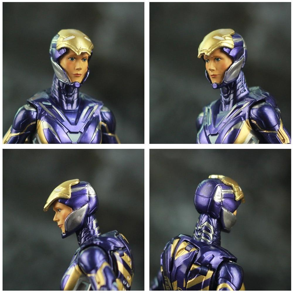 "Image 3 - Marvel 2019 Avengers 4 Endgame Iron Man Rescue Pepper Potts 7"" 17cm Action Figure Ironman Legends Lady Purple Armor ZD Toys DollAction & Toy Figures   -"
