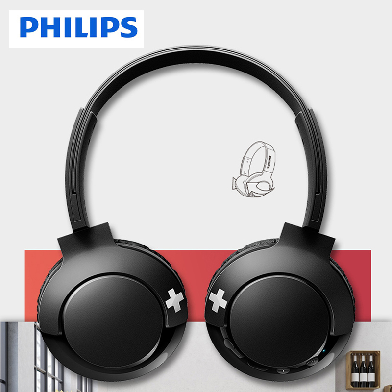 Philips Wireless Headphone SHB3075 HIFI <font><b>Bluetooth</b></font> 4.1 With Mic Noise Reduction for Galaxy S8/<font><b>S9</b></font>/S10 Note 8/9 Huawei Xiaomi image