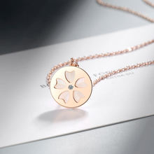 Изысканное милое покрытое розовым золотом ожерелье сакуры очаровательный