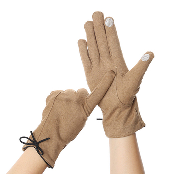 Elegant Vintage Gloves Women Winter Touch Screen Driving Gloves Warm Mitts Full Finger Mittens Girls Outdoor Sport Female Glove sparsil women winter velvet touch screen gloves warm fleece full finger cashmere mittens windproof elegant glove female girl