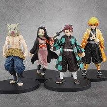 16cm Kimetsu no Yaiba Figure Tanjirou Nezuko Inosuke figurine Anime Demon Slayer Action blade figures Model toys