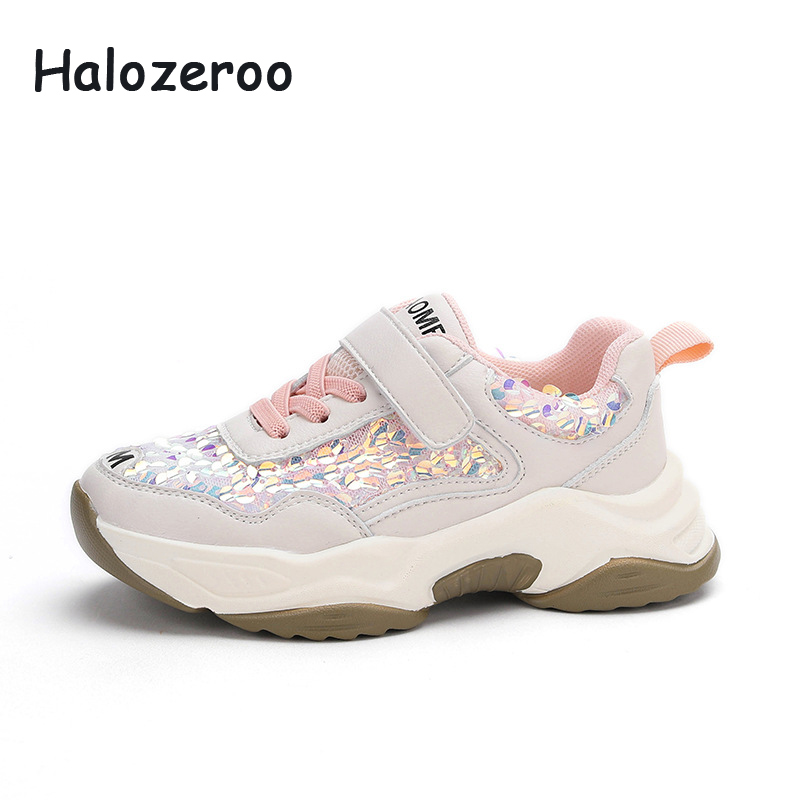 Spring Kids Sport Sneakers Boys Mesh Shoes Children Black Chunky Sneakers Baby Girls Brand Casual Sneakers Fashion Trainers 2020