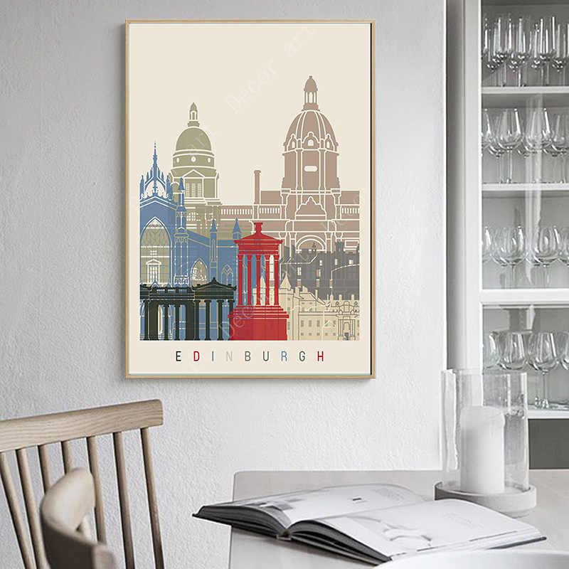 United Kingdom Edinburgh print home decor wall art picture poster quote
