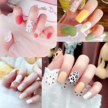 24 PCS Fake Nails Full Cover Nail Art Decoration Wo