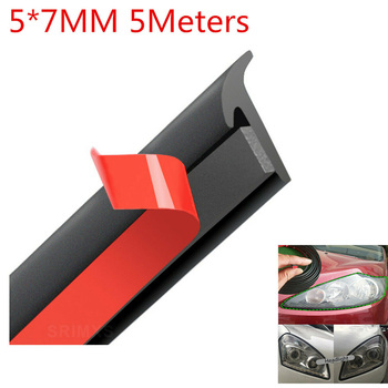 Vehicle Sealing Strip Front Rear Bumper For Car Edge Trim Bumper Lip Side Skirt T-Type image