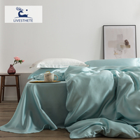Liv Esthete Romantic 100% Silk Bedding Set Mulberry Beauty Silk Bed Set Beauty Quilt Cover Pillowcase Double Queen King Sheet
