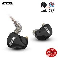 Cca CA16 7BA + 1DD Hybrid Drivers Hifi Monitoring Oordopjes In Ear Oortelefoon Headset Met 2PIN 0.75Mm Connector Voor c12 C10 C16 Zsx