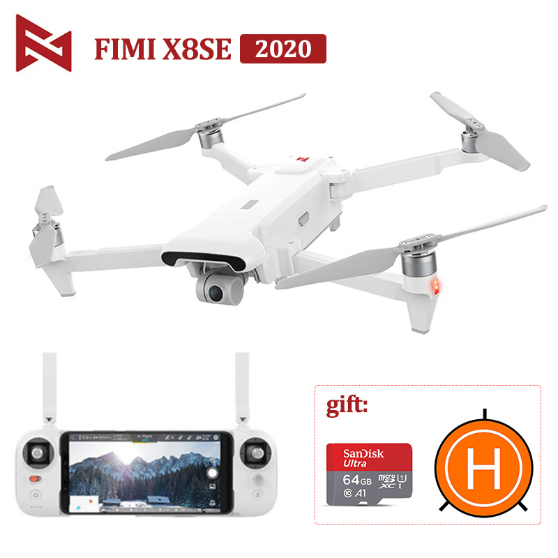 FIMI X8 SE 2020 Camera Drone RC Helicopter 8KM FPV Drone 3-axis Gimbal 4K Camera HDR Video GPS RTF X8SE