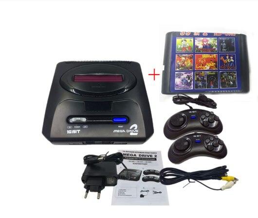 16 bit SEGA MD 2 Video Spiel Konsole mit UNS und Japan Modus Schalter, für Original SEGA griffe Export Russland mit 55 klassische spiele