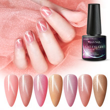 RBAN NAIL 6ML Naakt Rose Roze Cat Eye Gel Nagellak UV Led Nail Gel Sok Off Langdurige semi-permanente Gel Nail Lak(China)