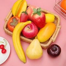 24 типа, имитация фруктов, модель для еды, искусственное яблоко, оранжевый, персик, лимон, украшение для рабочего стола, домашний декор, вечерние, свадебные принадлежности