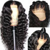 Yyong, pelucas de cabello humano pre-arrancadas con encaje completo, pelucas con minimechones, peluca de encaje brasileño sin pegamento, peluca completa de encaje Remy