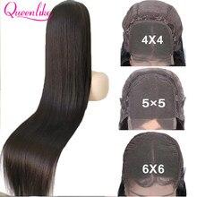 26 28 30 32 polegadas de cabelo reto brasileiro longo 4x4 5x5 6x6 perucas do fechamento para perucas pretas do cabelo humano das mulheres peruca do laço reto do osso