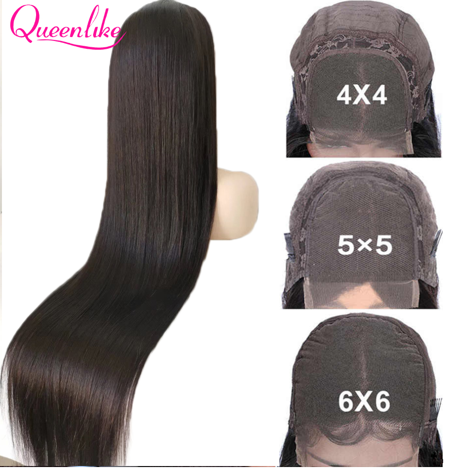 40 42 Inch Brazilian Straight 5x5 6x6 Closure Wig For Black Women 13x6 HD Lace Frontal Bone Straight Lace Front Human Hair Wigs