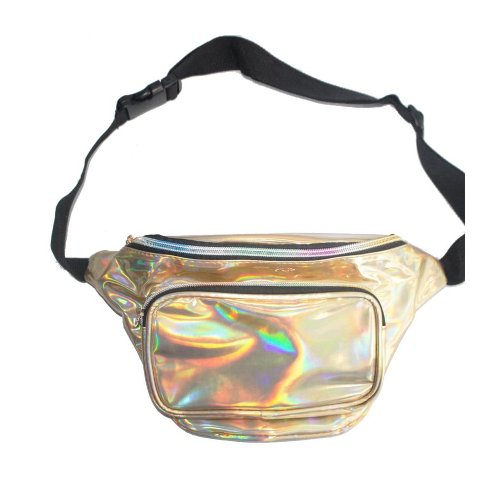 Waist Bag Unisex Custom Women Ladies Laser Waist Chest Bag Fashion Waterproof Leather Fanny Pack    Travel Purse