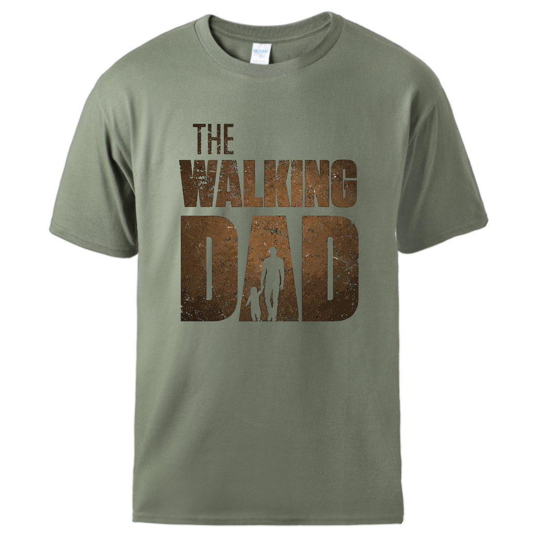 Man T-Shirt Workout-Top Father-Day-Gift Homme Hot-Sell Casual Walking Dad Summer Print