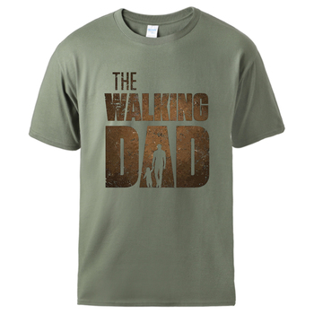 Man T shirt Summer Tee The Walking Dad Print Male Short Sleeve Tops 2020 Homme Casual Workout Top Hot Sell Father Day Gift Tee alien print tee