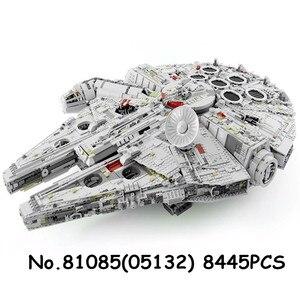 Image 2 - 05027 05132 81098 05028 UCS kuvvet Waken ölüm Imperial Star Destroyer savaşları yapı taşları Millennium gemi Falcon tuğla oyuncak