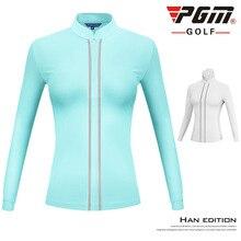 PGM, женская одежда для гольфа, приталенная куртка, женская, длинный рукав, сохраняющая тепло, ветровка со стоячим воротником, рубашка с воротником, одежда для гольфа, D0800