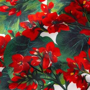 Image 5 - SEQINYY Vintage Dress 2020 Summer Spring New Fashion Design Women Red hydrangea Flower Print Tassel Asymmetrical Vest Slim Dress