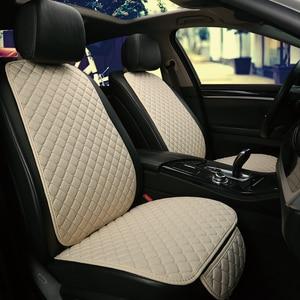Image 2 - גדול גודל פשתן מושב המכונית כיסוי מגן פשתן קדמי או אחורי מושב אחורי כרית כרית מחצלת משענת עבור אוטומטי פנים משאית Suv ואן