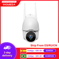 INQMEGA-cámara PTZ TUYA para exteriores, videocámara inteligente de seguridad CCTV con seguimiento automático, 1080P, Google Home, Alexa