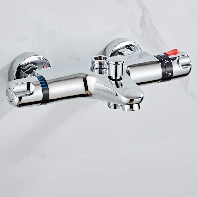 Three Ways Brass Made Bathroom Bath Shower Faucets Water Control Valve Wall Mounted Ceramic Thermostatic Valve Three Ways Brass Made Bathroom Bath Shower Faucets Water Control Valve Wall Mounted Ceramic Thermostatic Valve Mixer Faucet Tap