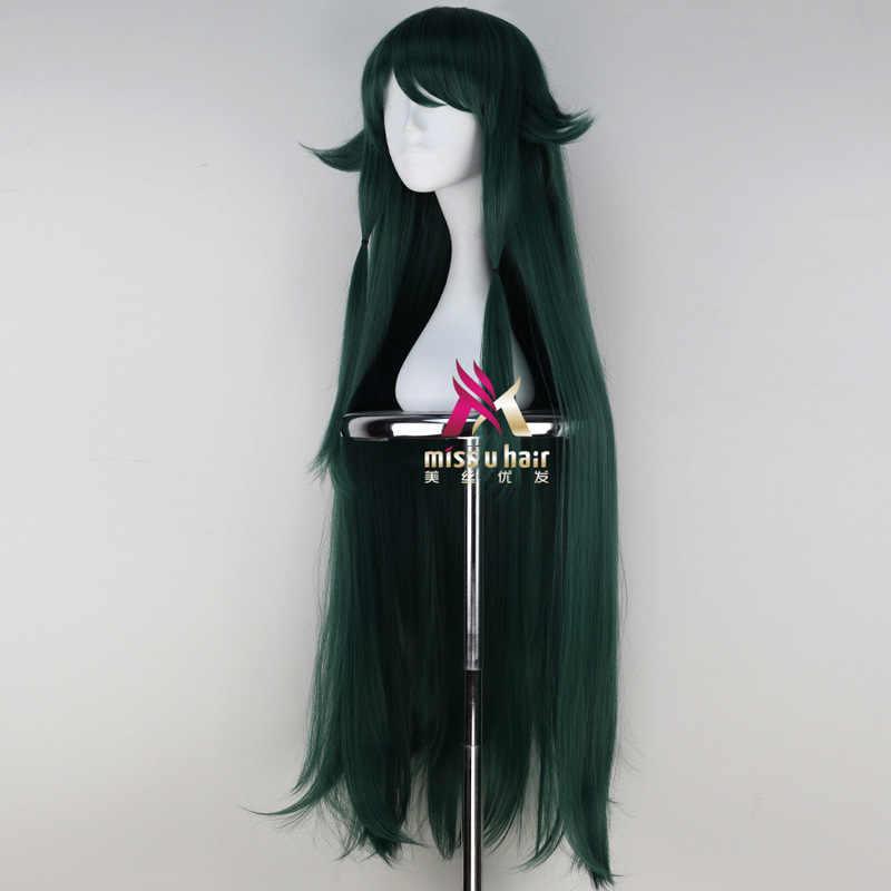 Japon oyunu SaYa hiçbir Uta kadın Saya cosplay peruk Saya rol oynamak uzun yeşil saç peruk kostümleri + peruk kap