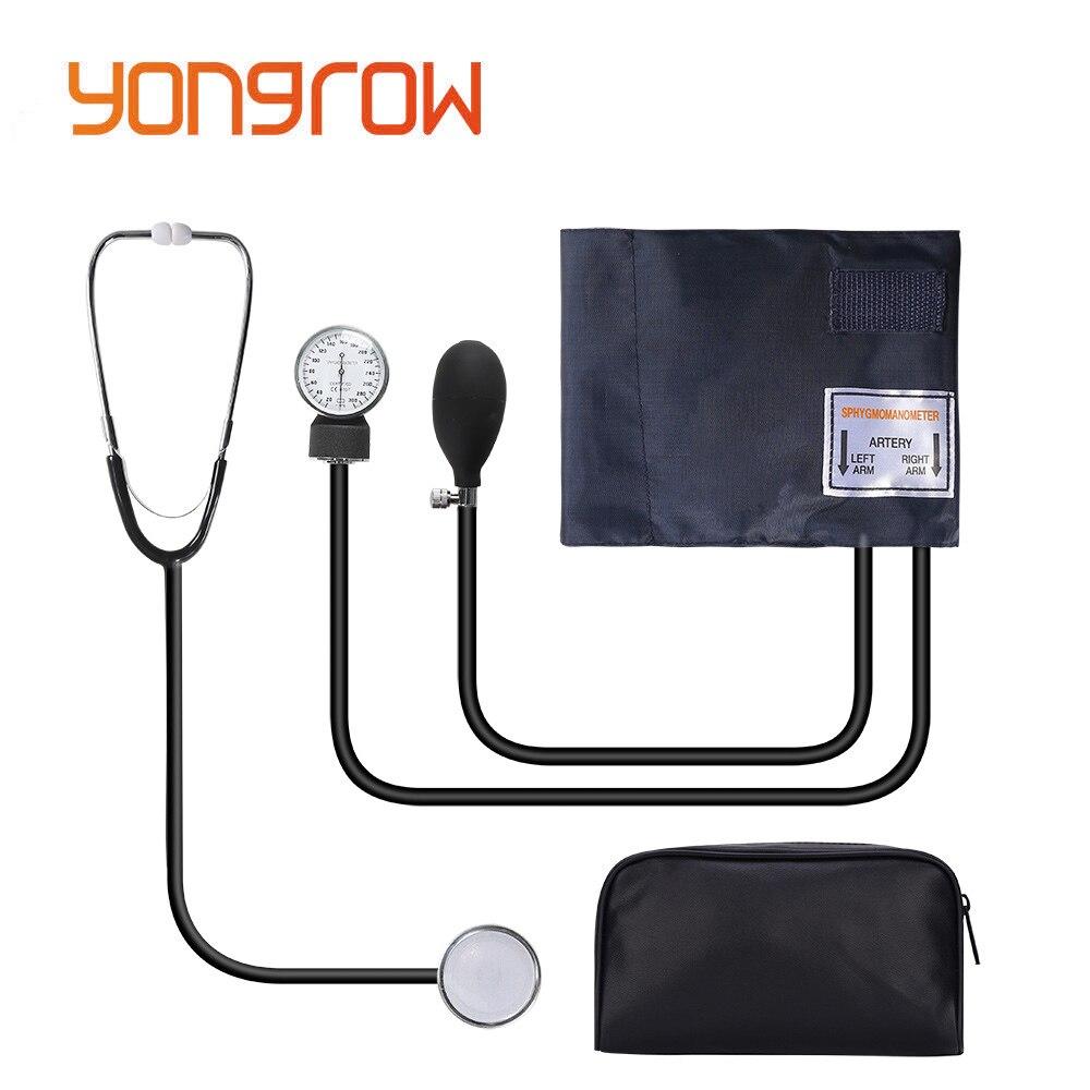 Yongrow Monitor Médico Estetoscópio Sangue Manual Uso Saúde Medir Sistólica Diastólica Pressão Dispositivo doméstico Esfigmomanômetro Manguito