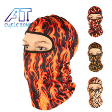 Cycle Zone 5 Style Winter Skull Mask Flame Hats Sport Face Mask Men Ghost Full Face Shield Bike Cycling Bicycle Mask