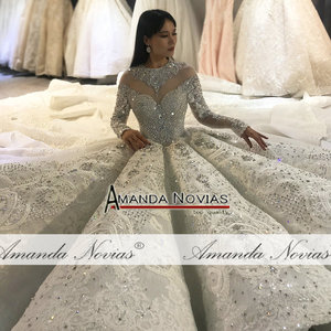 Image 5 - Amanda Novias design full beading bridal dress wedding dress black brides luxury royal dress