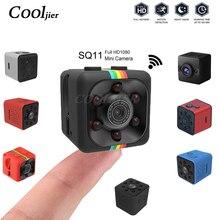 COOLJIER Mini kamera SQ11 SQ12 FULL HD 1080P Night Vision kamery sportowej SQ13 SQ23 wodoodporna powłoka czujnik CMOS WIFI rejestrator
