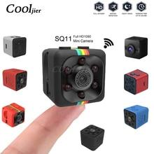 COOLJIER ミニカメラ SQ11 SQ12 フル HD 1080P ナイトビジョンスポーツビデオカメラ SQ13 SQ23 防水シェル CMOS センサー Wifi レコーダー