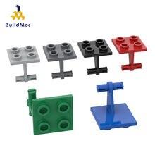 Moc compatível monta partículas 4870 2x2 aeronaves frente duplo eixos blocos de construção peças diy tecnologia educacional brinquedos