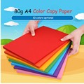 Цветная копировальная бумага A4 80 г 50/100 листов, ручная работа для детей, бумага для скрапбукинга, двухсторонняя цветная бумага для школы, офи...