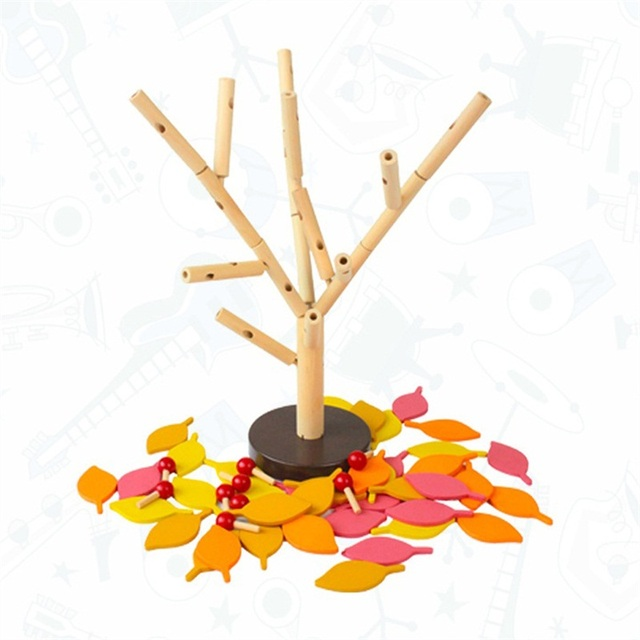 Wooden Blocks for Building Tree