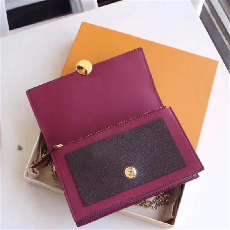 2020 New Luxury Design Wallet Women Fashion Purses Genuine Leather Long Wallet Clutch Shoulder Bag Chain Bag High Quality Loui