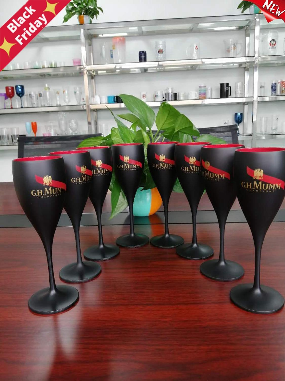 Factory plastic wine glasses PS acrylic PC plastic champagne glasses party glasses can be customized LOGO