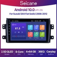 Seicane أندرويد 10.0 RAM 2 + 32G راديو السيارة الصوت لتحديد المواقع لاعب لسوزوكي SX4 2006 2013/فيات Sedici 2005 2014 9 بوصة 2Din QLED الشاشة