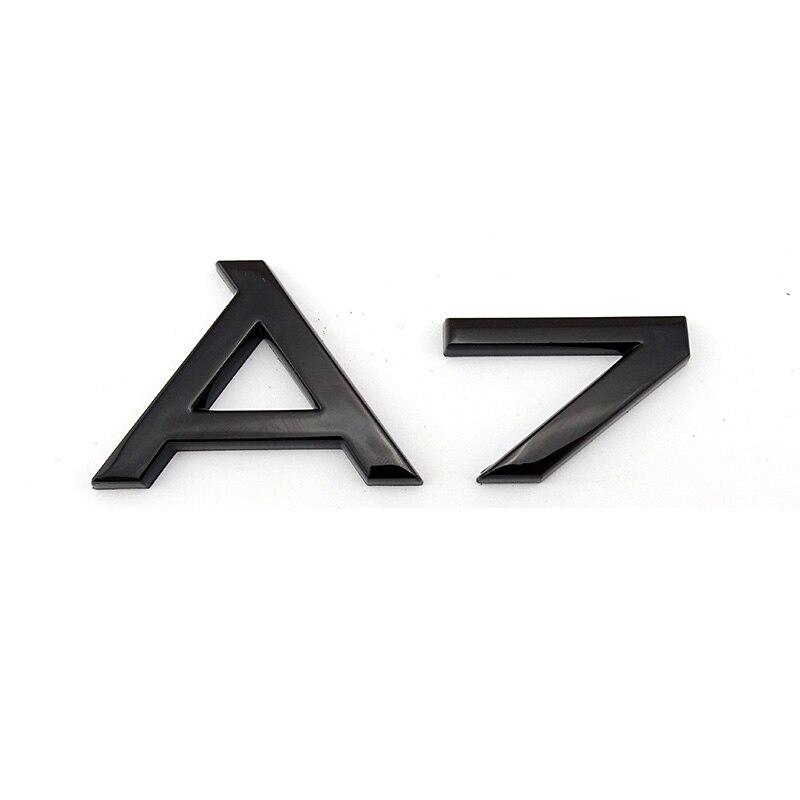 GLOSS BLACK 2.0T REAR BOOT TRUNK LOGO LETTER EMBLEM BADGE FOR AUDI QUATTRO SLINE