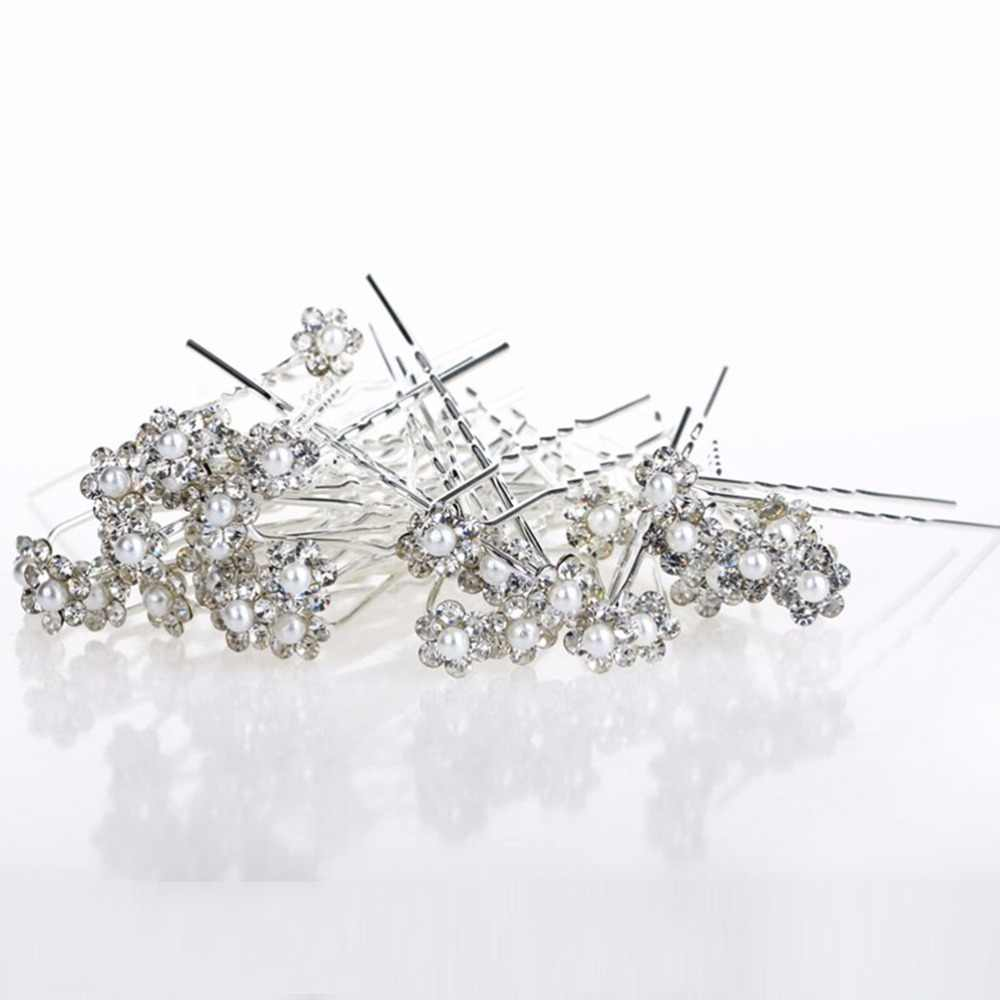 Fashion Crystal Hair Clip Beach Wedding Decorations Halloween Jewelry Handmade Jewelry Bling Women Hair Pins 2019 New