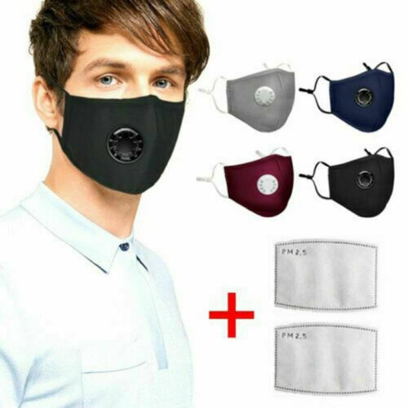 Fabric Mask Washable Resuable Protective Mask Dustproof Multiple Black Fashion Funny Unisex Mouth Caps For Adult 2020