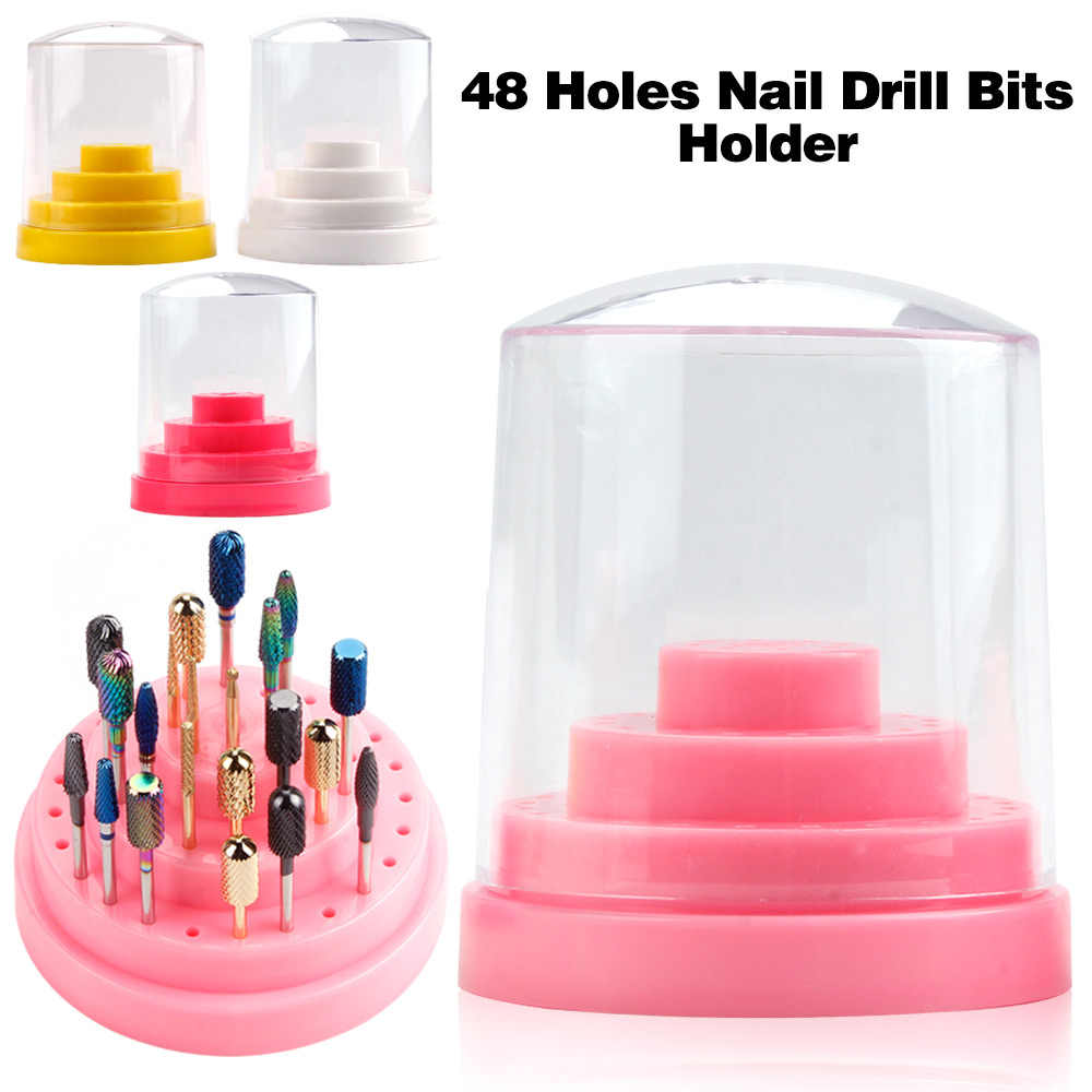 10/14/20/48 Gaten Nail Art Boor Houder Nail Frees Display Frezen Container Opbergdoos Manicure accessoires Gereedschap