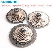Shimano Cassette de CS M8000 DEORE XT para bicicleta de montaña, 11S, M8000, 11 40T, 11 42T, 11 46T, 40T, 42T, 46T