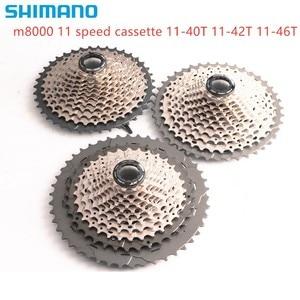 Image 1 - shimano DEORE XT CS M8000 Cassette 11S MTB bike bicycle freewheel M8000 11 40T 11 42T 11 46T cassette 40T 42T 46T