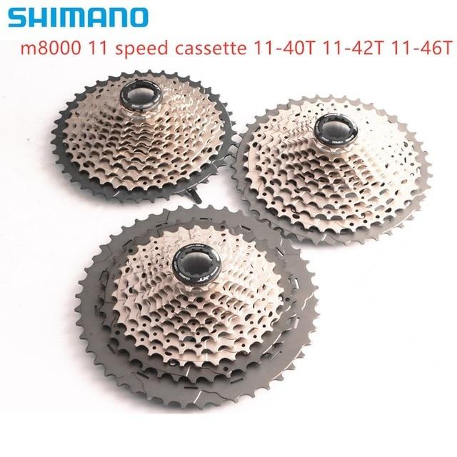 shimano DEORE XT CS M8000 Cassette 11S MTB bike bicycle freewheel M8000 11 40T 11 42T 11 46T cassette 40T 42T 46T