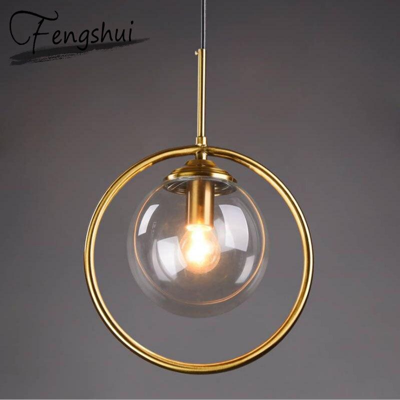 Modern Pendant Ceiling Lamps Glass Pendant Lights Lamp LED Pending Lighting Living Room Bedside Bedroom Loft Decor Hanging Lamp